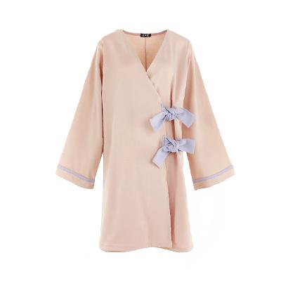 ribbon point kimono dress2